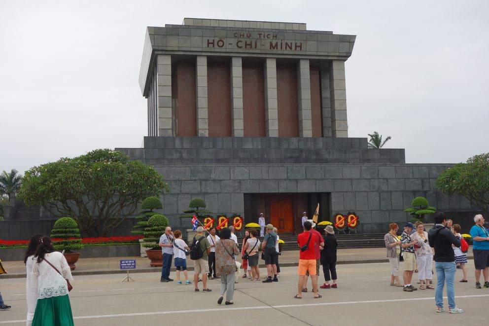The mausoleum of Ho Chi Minh in Hanoi. (Photo by Scott McMurren)
