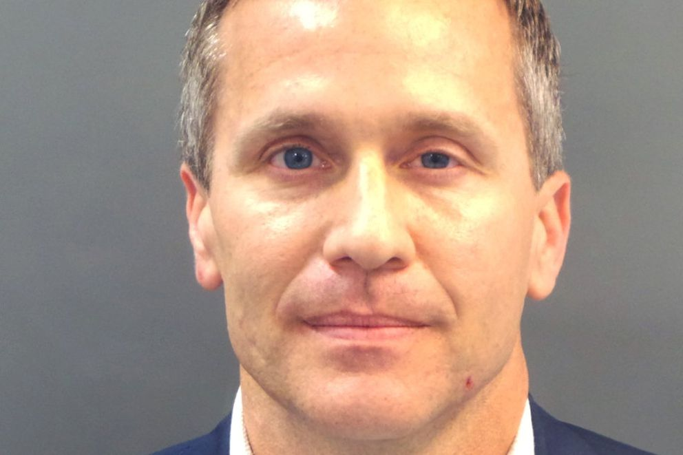 Missouri Gov. Eric Greitens appears in a police booking photo in St. Louis on Feb. 22, 2018. (St. Louis Metropolitan Police Dept./Handout via REUTERS)