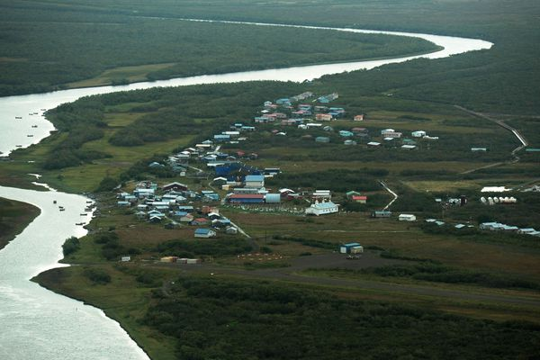 ERIK HILL / Alaska Dispatch News Napaskiak sits on the Kuskokwim River just downstream fro Bethel on Thursday, August 28, 2014, in Southwest Alaska.