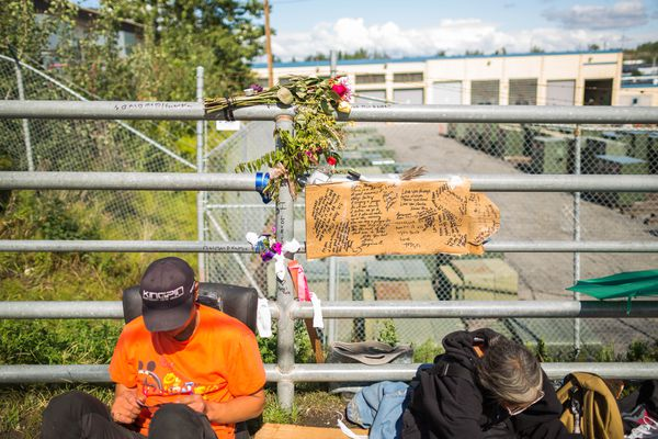 OPINION: Recent deaths among Anchorage homeless renew the call for help, hope and housing. Pictured: A memorial to one of the Bean's Cafe clients found dead in Anchorage in recent weeks.