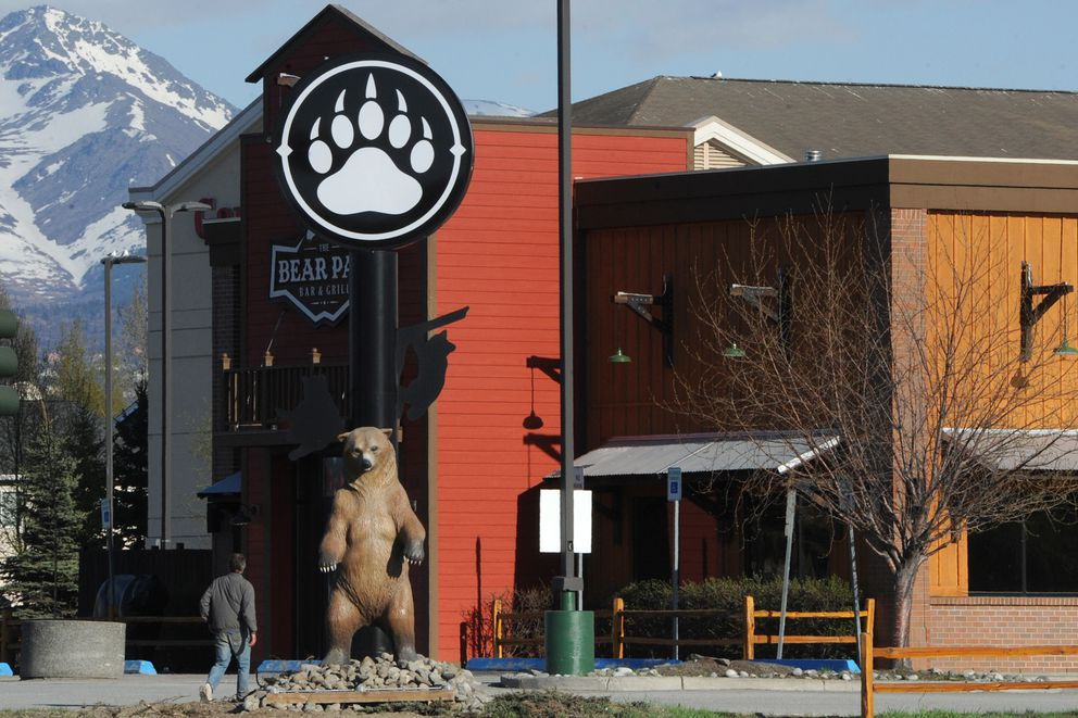 The Bear Paw Bar & Grill in Midtown Anchorage, photographed in May 2020. (Bill Roth / ADN)