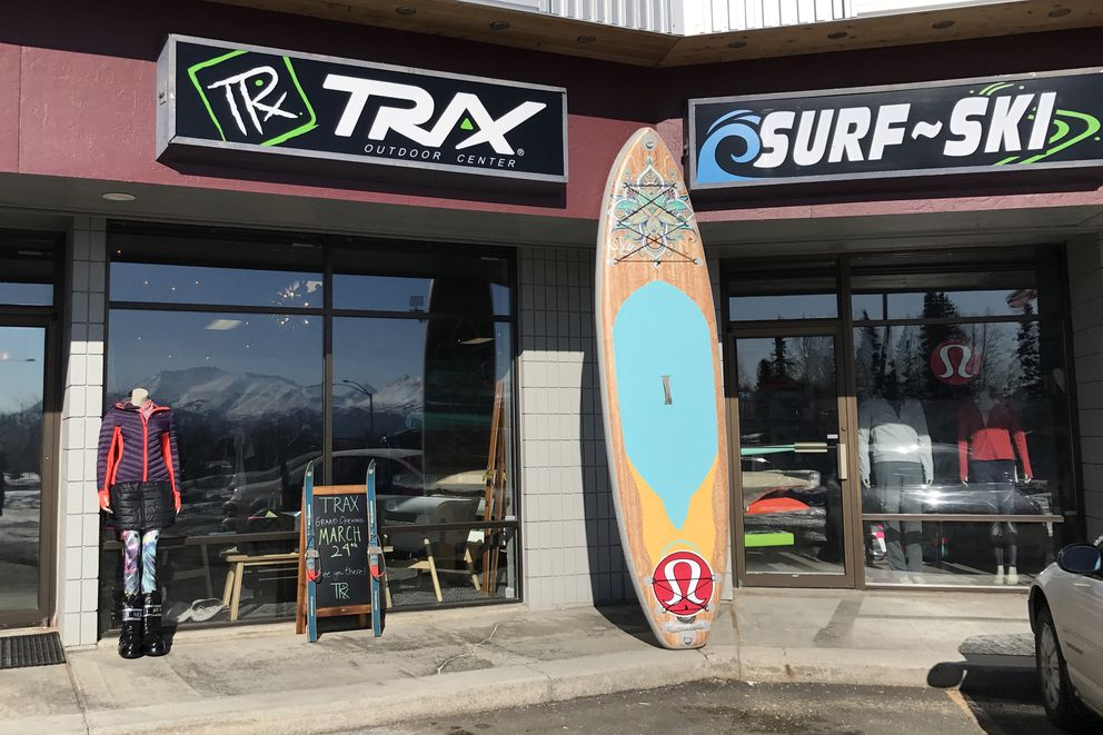 Trax Outdoor Center, which has had a store in Fairbanks since 2012, opened a second location in Anchorage at 6700 Jewel Lake Road. Photographed March 21, 2018. (Annie Zak / ADN)