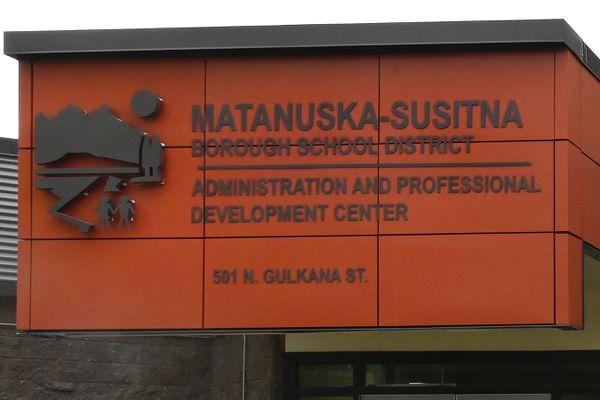 Matanuska-Susitna Borough School District building in Palmer on Wednesday, May 20, 2020. (Bill Roth / ADN)