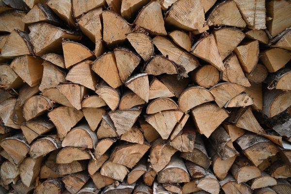 Split and stacked firewood, Nov. 27, 2020. (Anne Raup / ADN)