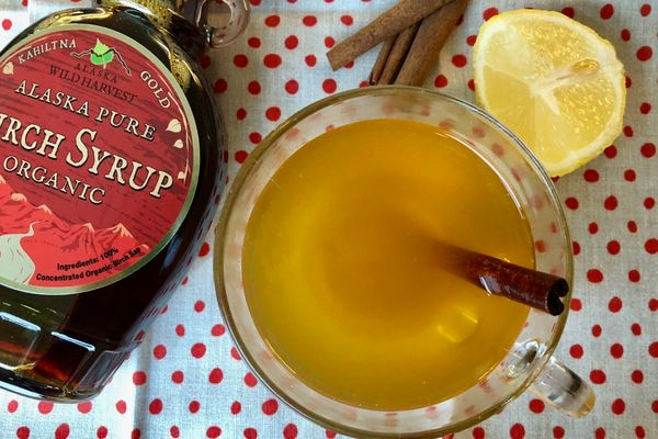 Warming birch syrup-turmeric tonic. (Julia O'Malley / ADN)