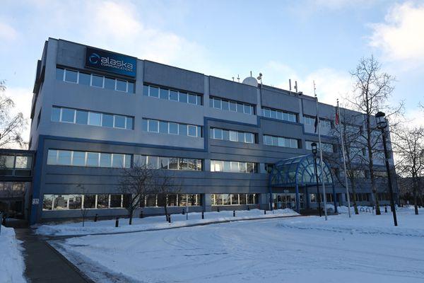 Alaska Communications in Midtown Anchorage on Monday, Jan. 25, 2021.(Bill Roth / ADN)