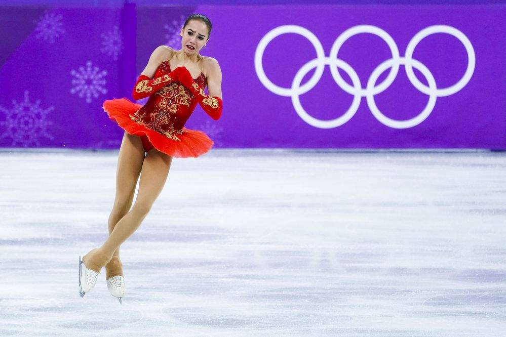 Alina Zagitova of Russia during her gold medal-winning performance in women's figure skating in Gangneung, South Korea, on Friday, Feb. 23, 2018. (Doug Mills/The New York Times)
