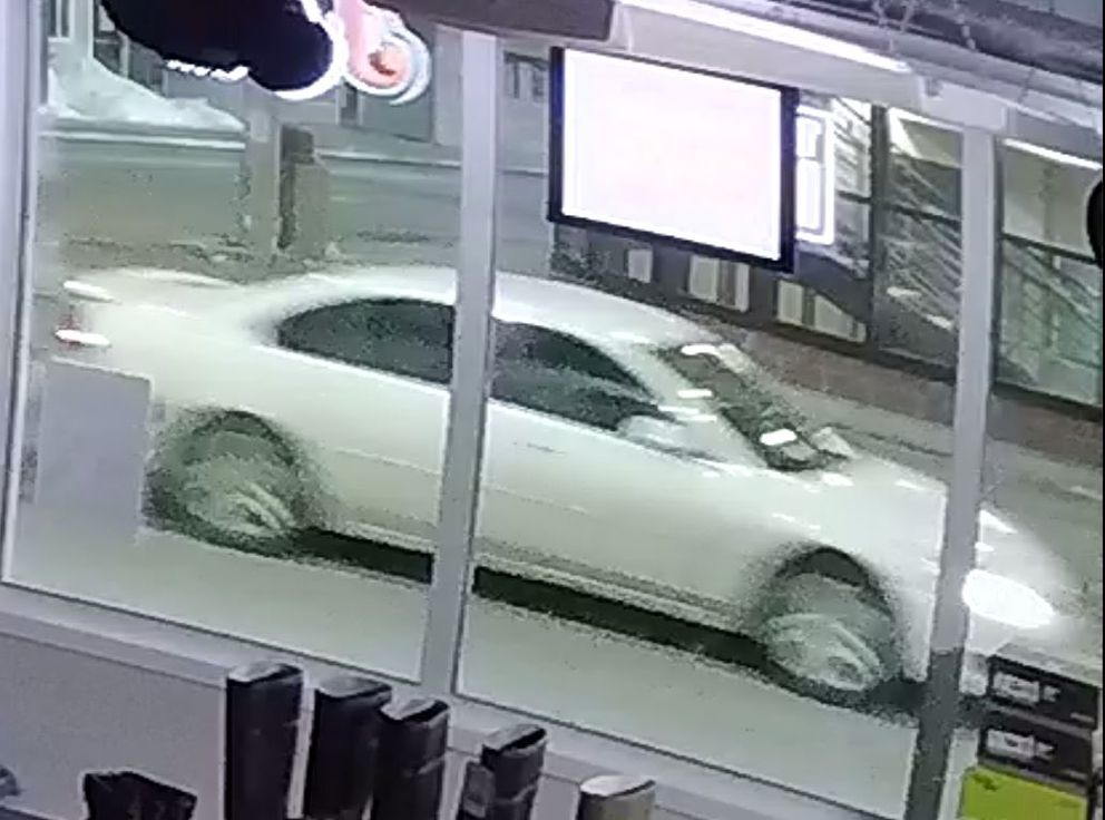 Fairbanks police released this surveillance image of a Chevrolet Impala sedan, whose occupants police would like to speak with regarding the April 4 death of Jose Alfonso Sifuentes-Morales, 44. (From FPD)