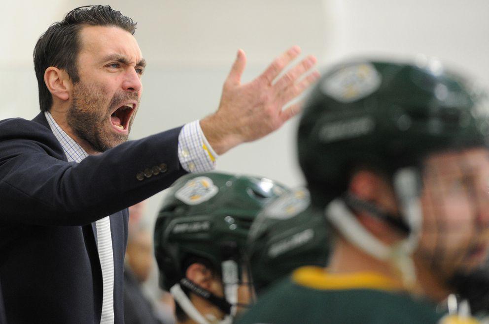 UAA head coach Matt Curley reacts to a play. (Bill Roth / ADN)
