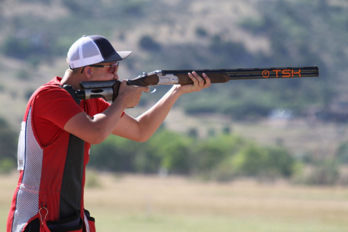 Grayson Davey won his age division at the USA Shooting Junior Olympics this week in Colorado Springs, Colorado. (Photo from USA Shooting)