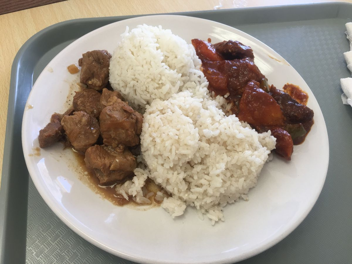 Pork adobo at Mama Tuds Kitchen in Anchorage (Photo by Mara Severin)