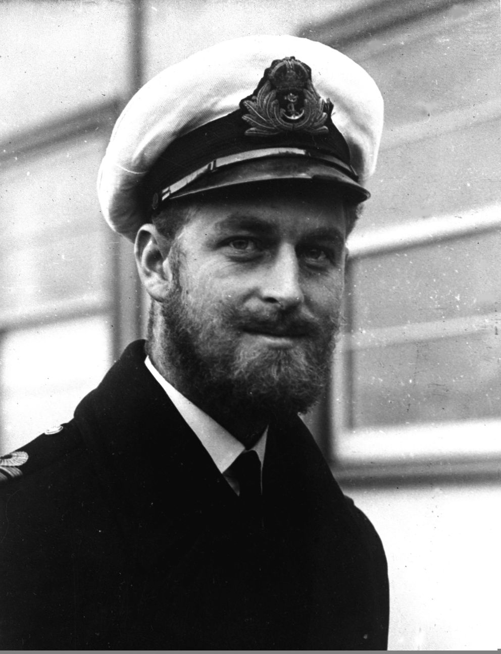FILE - This Aug. 29, 1945 file photo shows Prince Philip of Greece, during a naval visit to Melbourne, Australia. Buckingham Palace says Prince Philip, husband of Queen Elizabeth II, has died aged 99. (AP Photo/File)