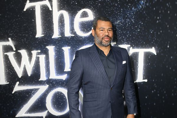 Jordan Peele poses upon arrival for the premiere of