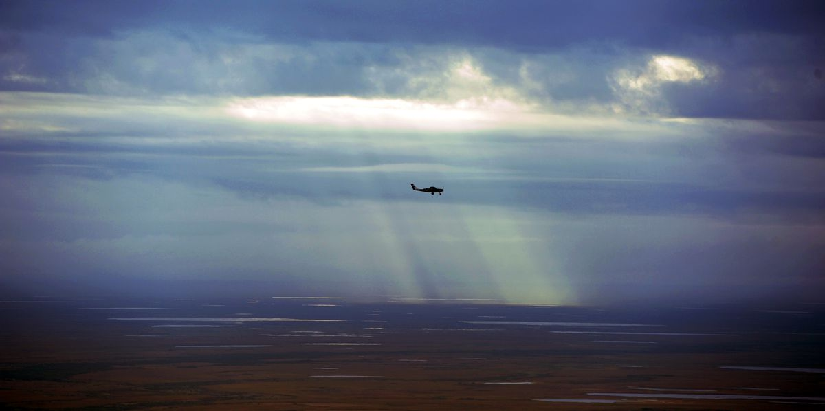 A commuter flight over the Southwest Alaska tundra. (ADN archive)