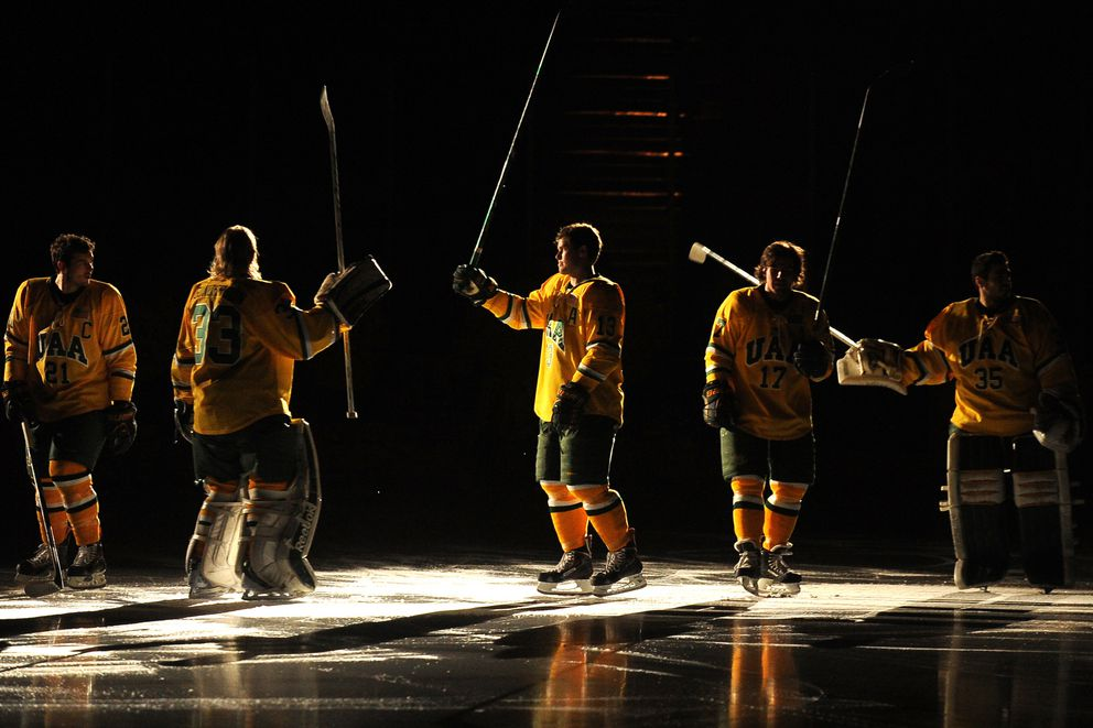 UAA takes on Bowling Green in the first period of Hockey action on Saturday, February 15, 2014 at the Sullivan Arena.