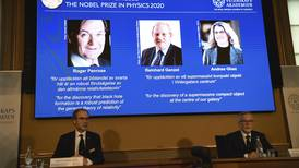 Three scientists share Nobel physics prize for black hole research