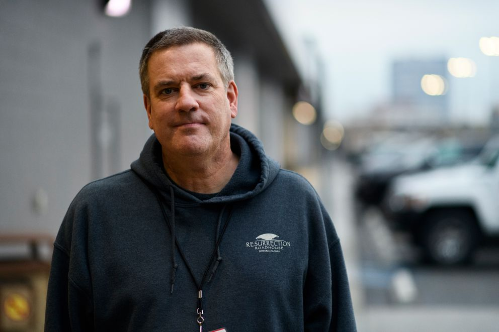 Bart Parker, outside the Midtown Mall where the Division of Elections hosts early voting. (Marc Lester / ADN)