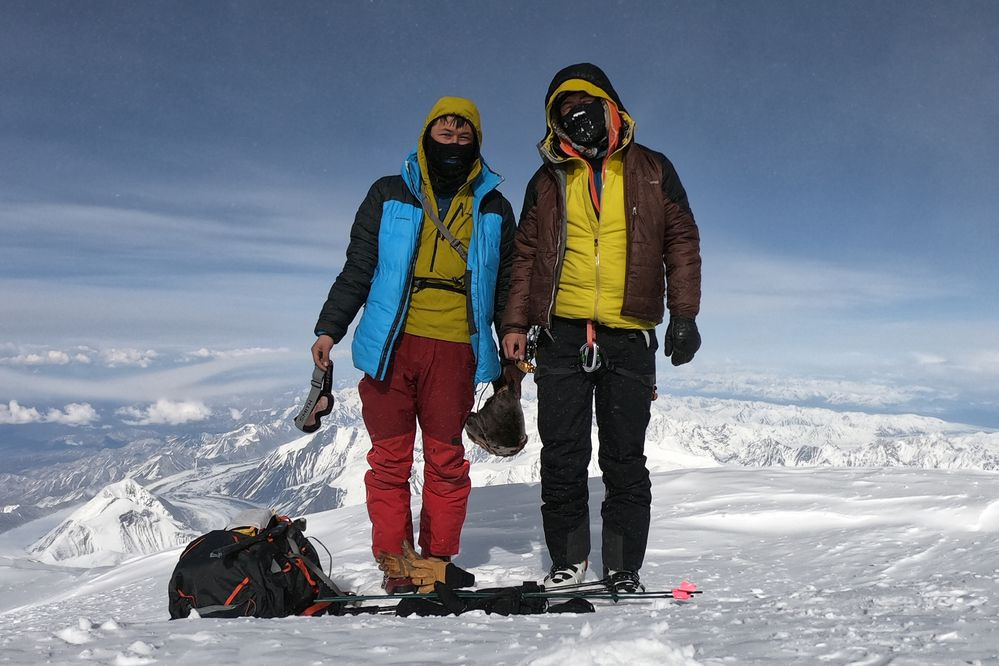 Wilson (left) and Oliver Hoogendorn on their recent climb on Denali. The brothers summited on Sunday, May 19, 2019. (Photo provided by the Hoogendorn brothers)