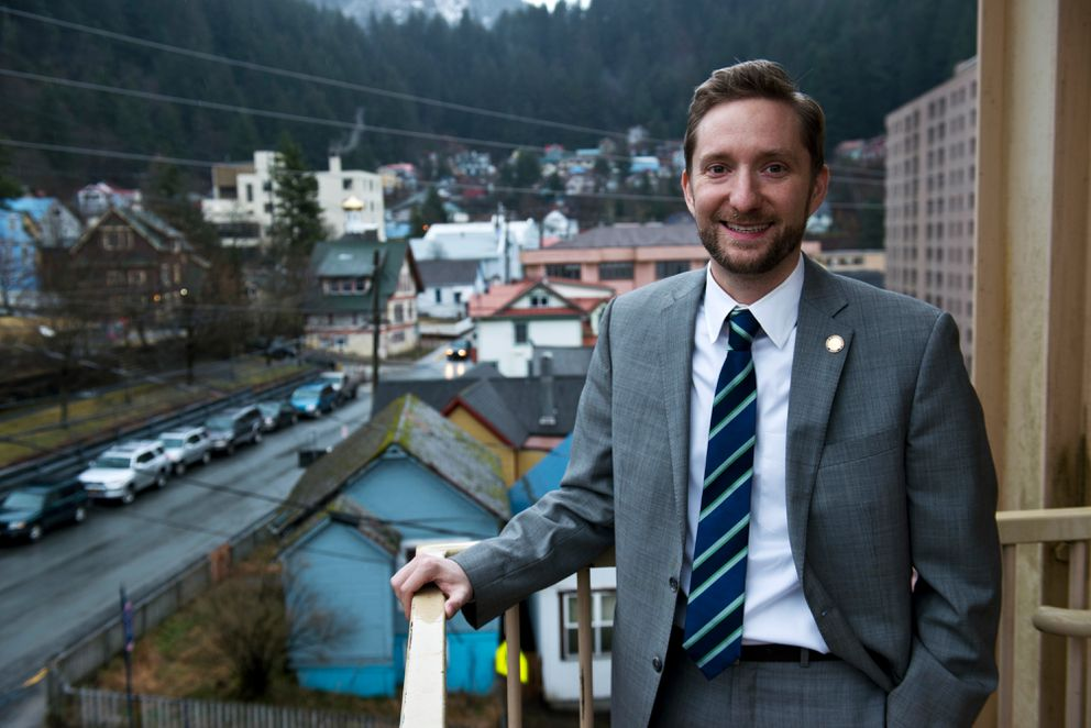 Rep. Jason Grenn, I-Anchorage, in Juneau in January. (Marc Lester / Alaska Dispatch News)