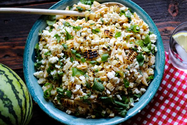 Mexican corn pasta salad (Maya Wilson / Alaska from Scratch)