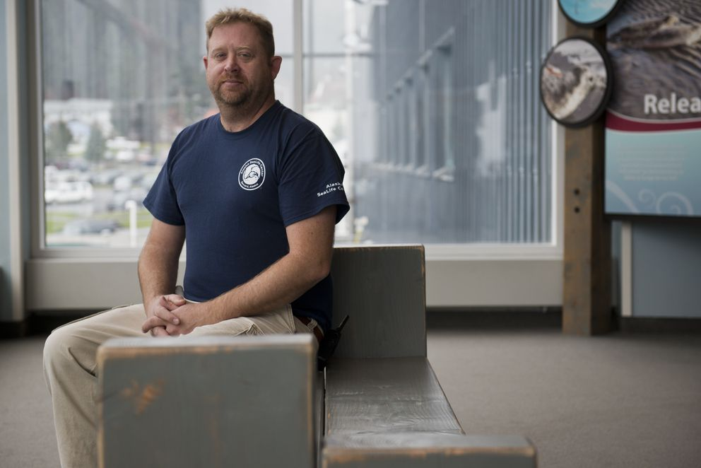 Brett Long is husbandry director for the Alaska SeaLife Center. (Marc Lester / Alaska Dispatch News)