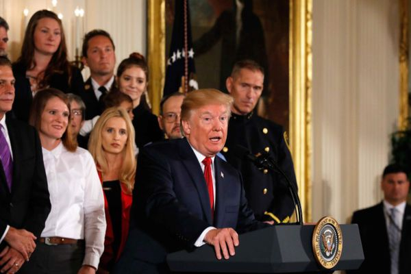 U.S. President Donald Trump speaks about administration plans to combat the nation's opioid crisis in the East Room of the White House in Washington, U.S., October 26, 2017. REUTERS/Jonathan Ernst