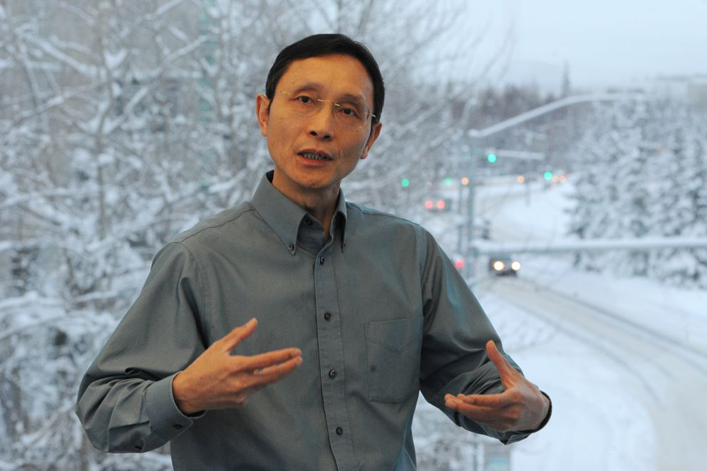 Professor Joey Yang, chair of the civil engineering department at UAA, is studying the 7.0 earthquake that occurred last month. (Bill Roth / ADN)