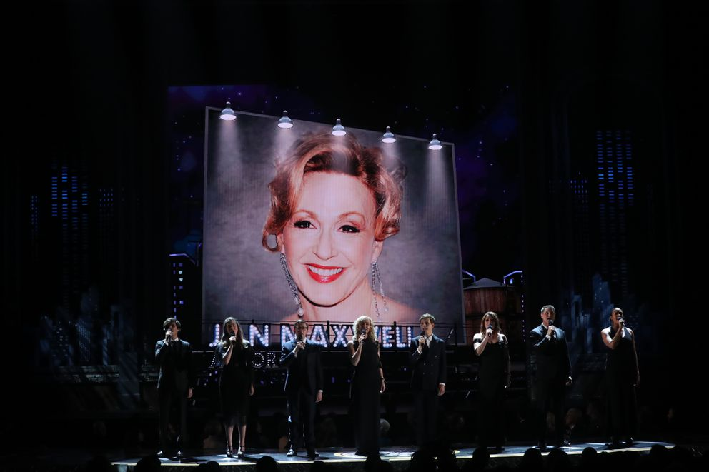 A picture of Jan Maxwell during the In Memoriam portion of the 72nd Annual Tony Awards at Radio City Music Hall in New York, June 10, 2018. (Sara Krulwich/The New York Times)