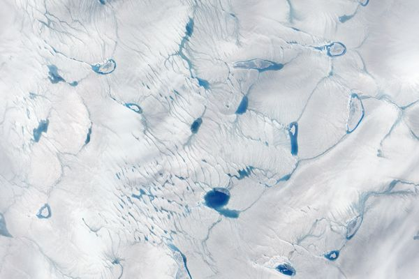 NASA Earth Observatory image of a portion of the Greenland Ice Sheet taken on June 16, 2016. (NASA)