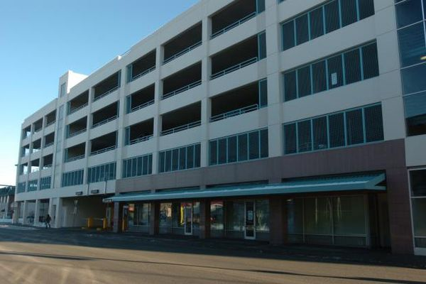 Bob Hallinen /Anchorage Daily News AVAIL High School a last chance for students in Anchorage is located in the lower level of the Anchorage Parking Garage between 4th and 5th in downtown Anchorage. 070206