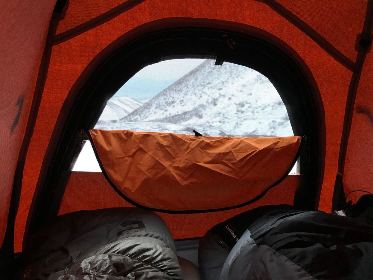 The view from our tent in Hanging Valley near Eagle and Symphony Lakes on Monday. (Vicky Ho / ADN)