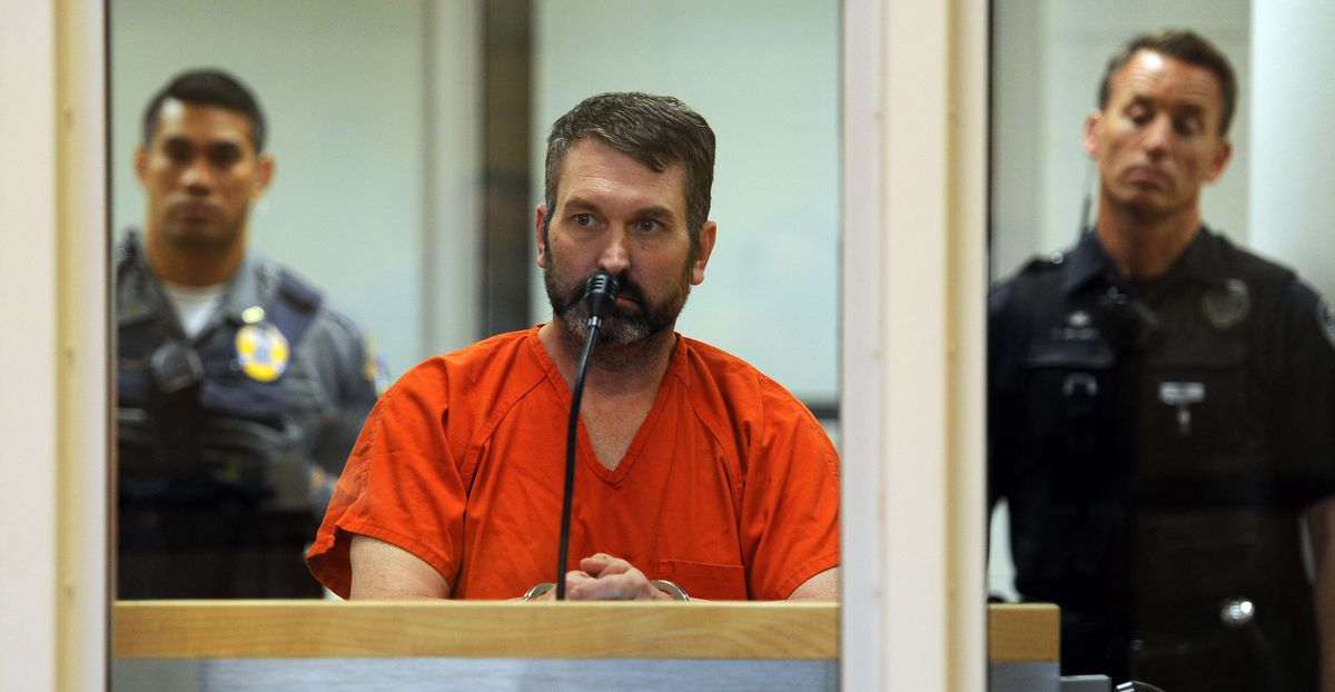 Anthony Pisano appears in the Anchorage jail court on Wednesday. Pisano was charged withthree counts of first-degree murder. (Erik Hill / Alaska Dispatch News)