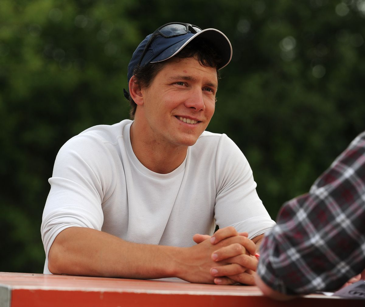 Andrew Kurka is photographed at Cuddy Family Park in Anchorage on June 28. (Bob Hallinen / Alaska Dispatch News)