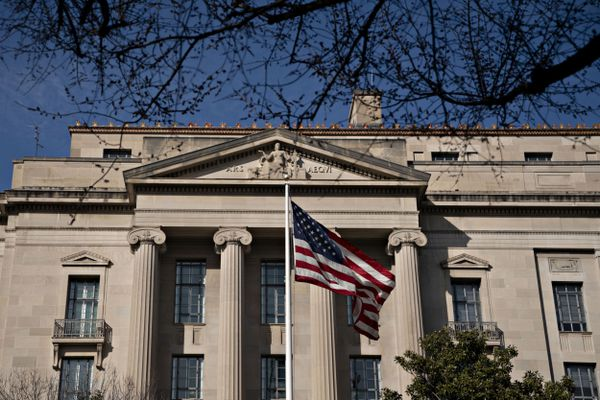 The U.S. Department of Justice headquarters in Washington on Feb. 19, 2020. MUST CREDIT: Bloomberg photo by Andrew Harrer.