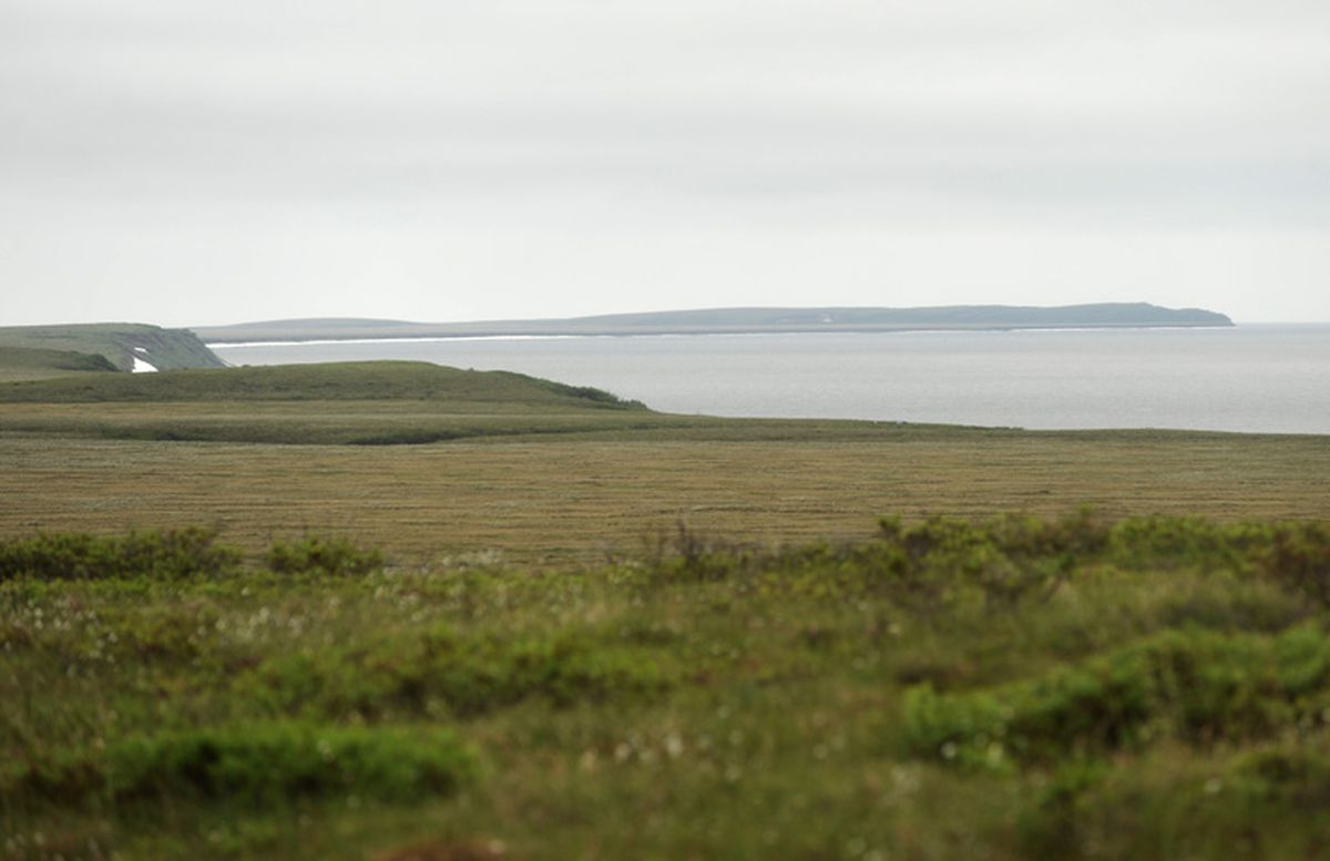 Cape Blossom, outside Kotzebue, shown in an undated file photo, could be the site of a deepwater port for Kotzebue. (Stephen Nowers / ADN archive)