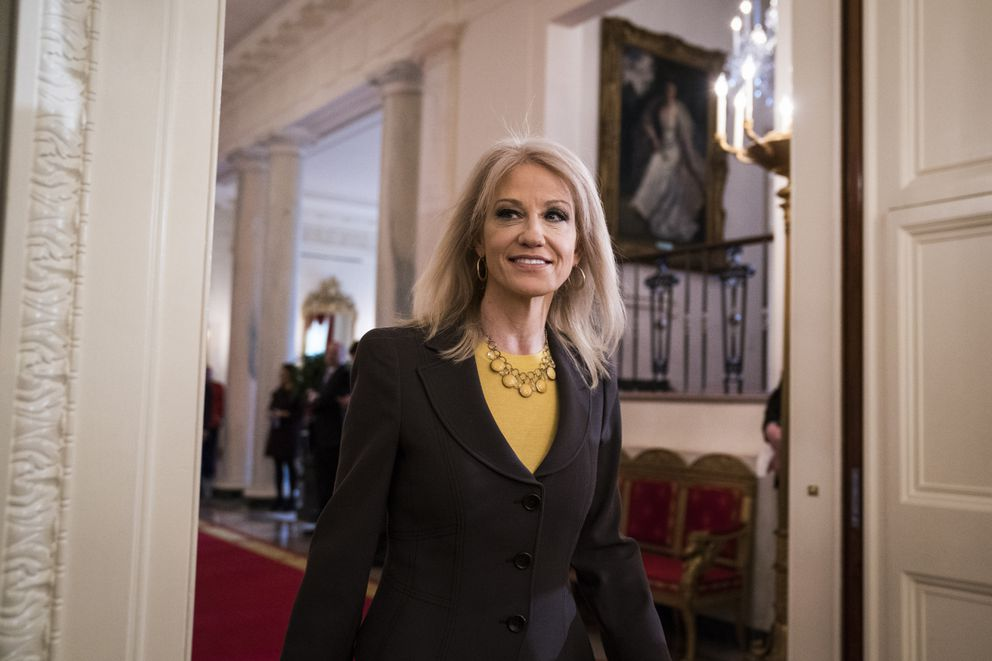 White House senior adviser Kellyanne Conway arrives at the White House before a March, 2018, event. (Washington Post photo by Jabin Botsford)