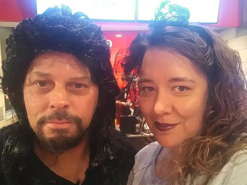 Robert McIver and Lauren McIver-O'Hara, in a photo from an '80s-themed party. (Courtesy Lauren McIver-O'Hara)