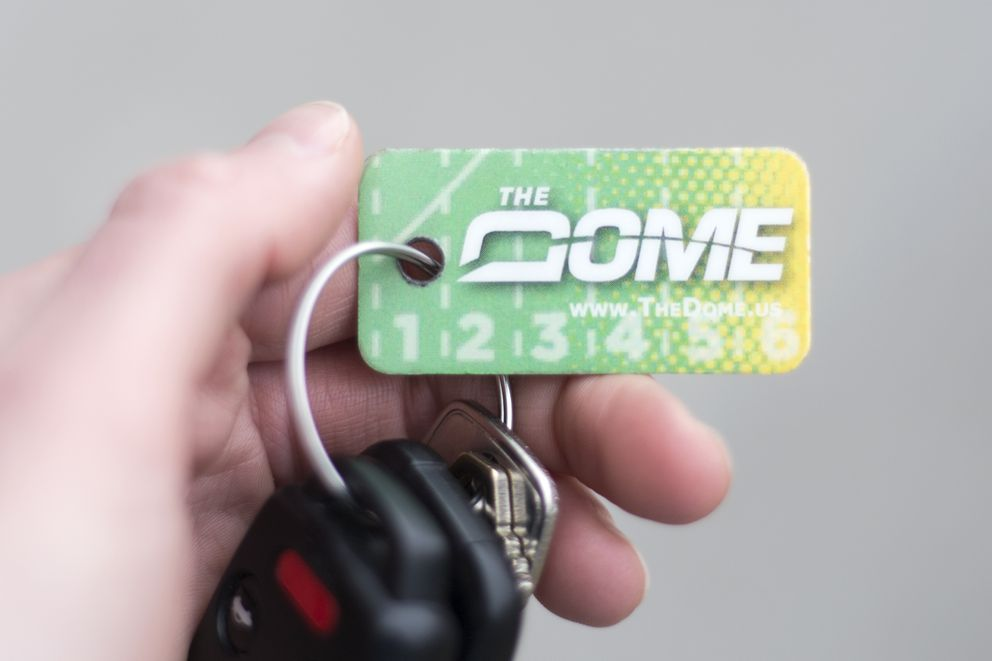 Dome key ring, photographed Monday. (Rugile Kaladyte / Alaska Dispatch News)