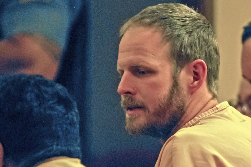Eagle River resident Justin Schneider appears in Anchorage District Court on Aug. 17, 2017. (Kirsten Swann/Alaska Star archive)