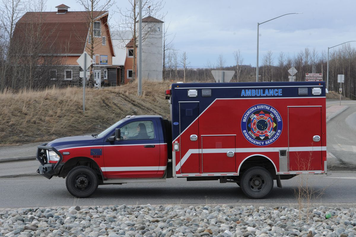 Matanuska-Susitna Borough paramedic April Yost in Central Ambulance 1 on Wednesday, March 20, 2019. The Matanuska-Susitna Borough assembly approved adding 25 EMT's and paramedics. (Bill Roth / ADN)