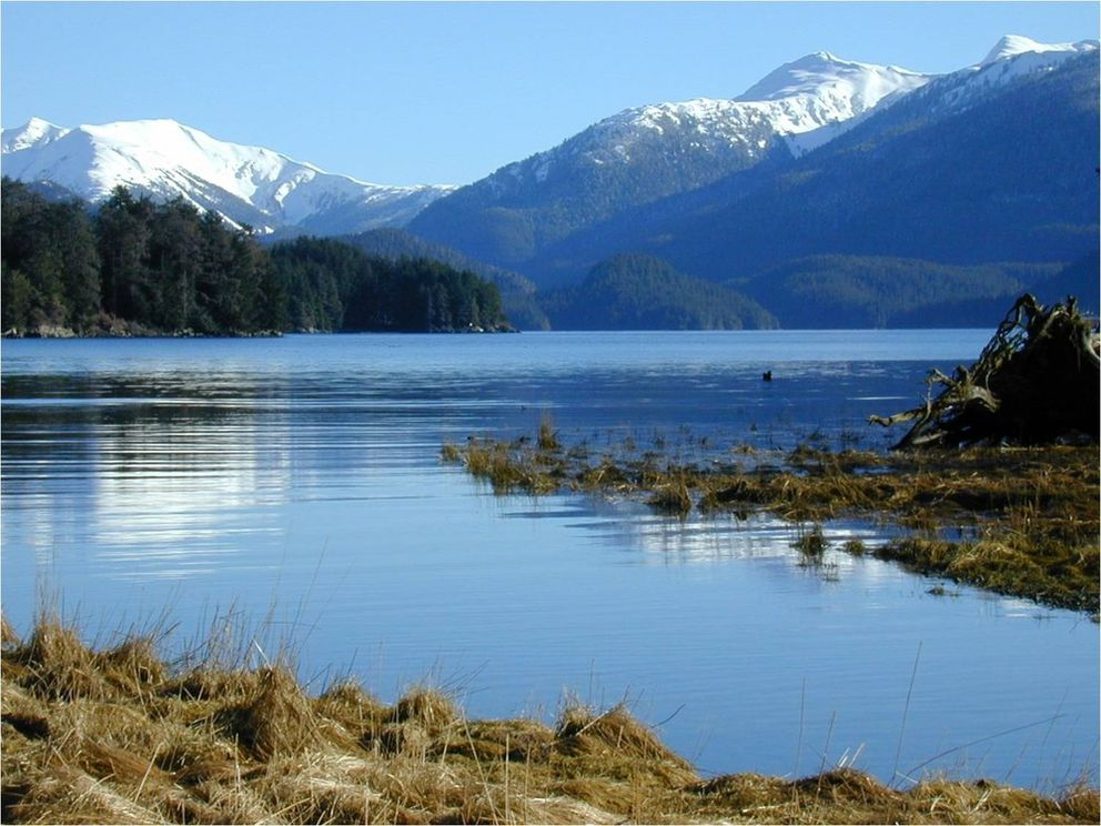 The Indian River estuary enters Sitka Sound in Jamestown Bay. (National Park Service photo)