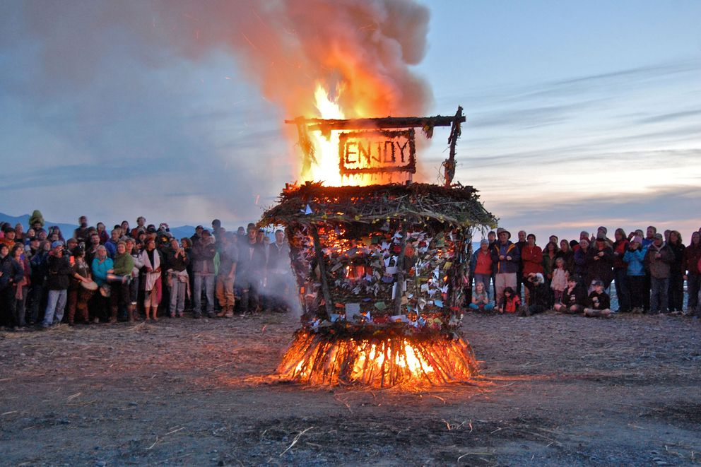 Burning Basket takes place every September in Homer. (ADN archive photo, provided by Mavis Muller)