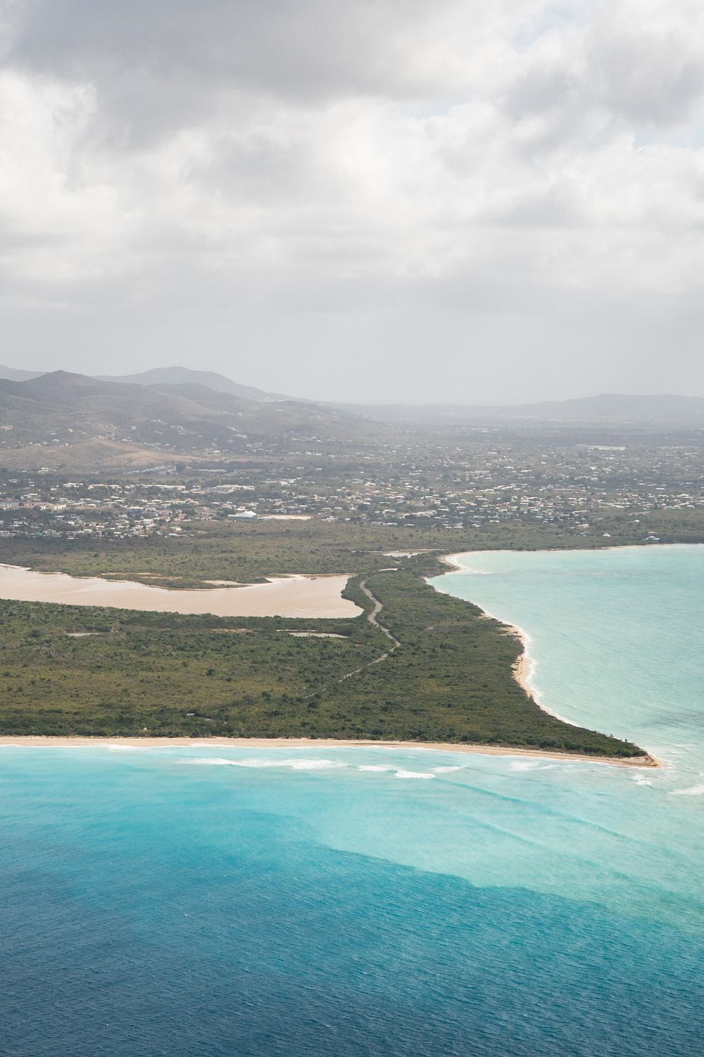 Sand Point beach in St. Croix, U.S. Virgin Islands, on Thursday, March 18, 2021. (Washington Post photo by Salwan Georges)