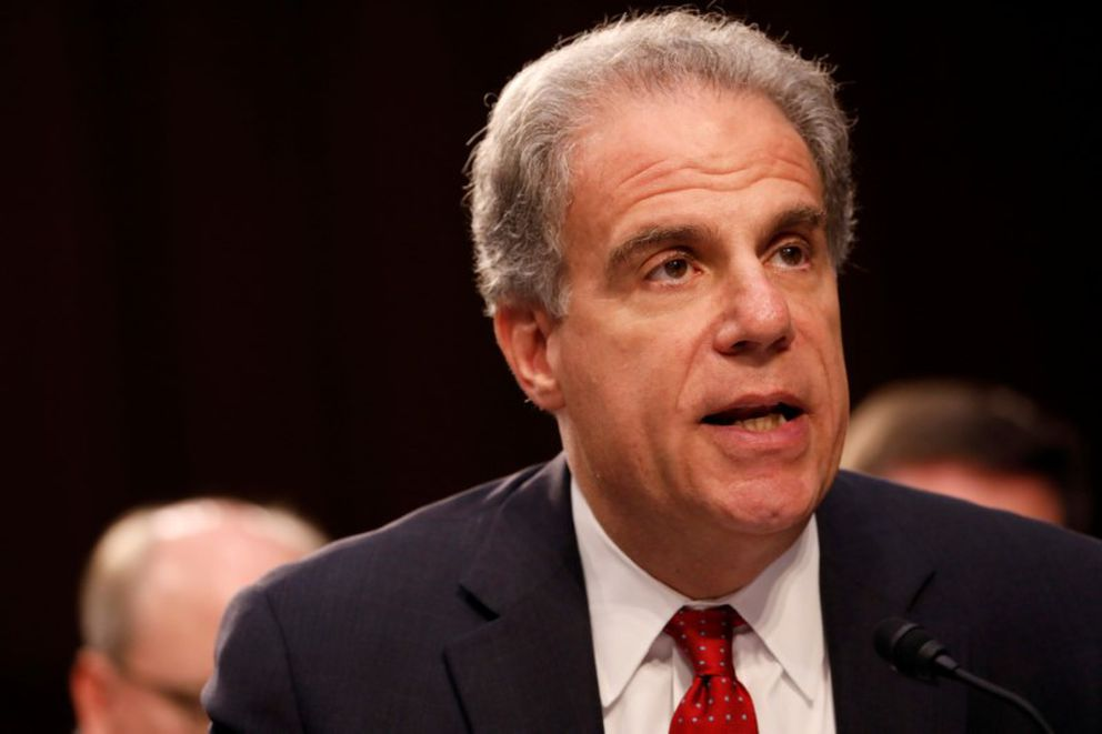 Justice Department Inspector General Michael Horowitz testifies during a Judiciary Committee hearing in Washington, July 26, 2017. (Aaron P. Bernstein / Reuters file)
