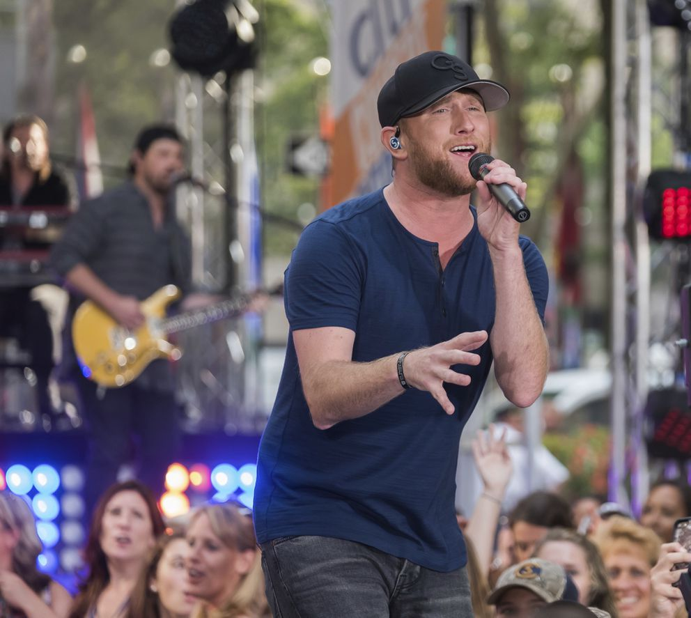 Cole Swindell performs on NBC's 'Today ' show at Rockefeller Plaza on Friday, Aug. 17, 2018, in New York. (Photo by Charles Sykes/Invision/AP)