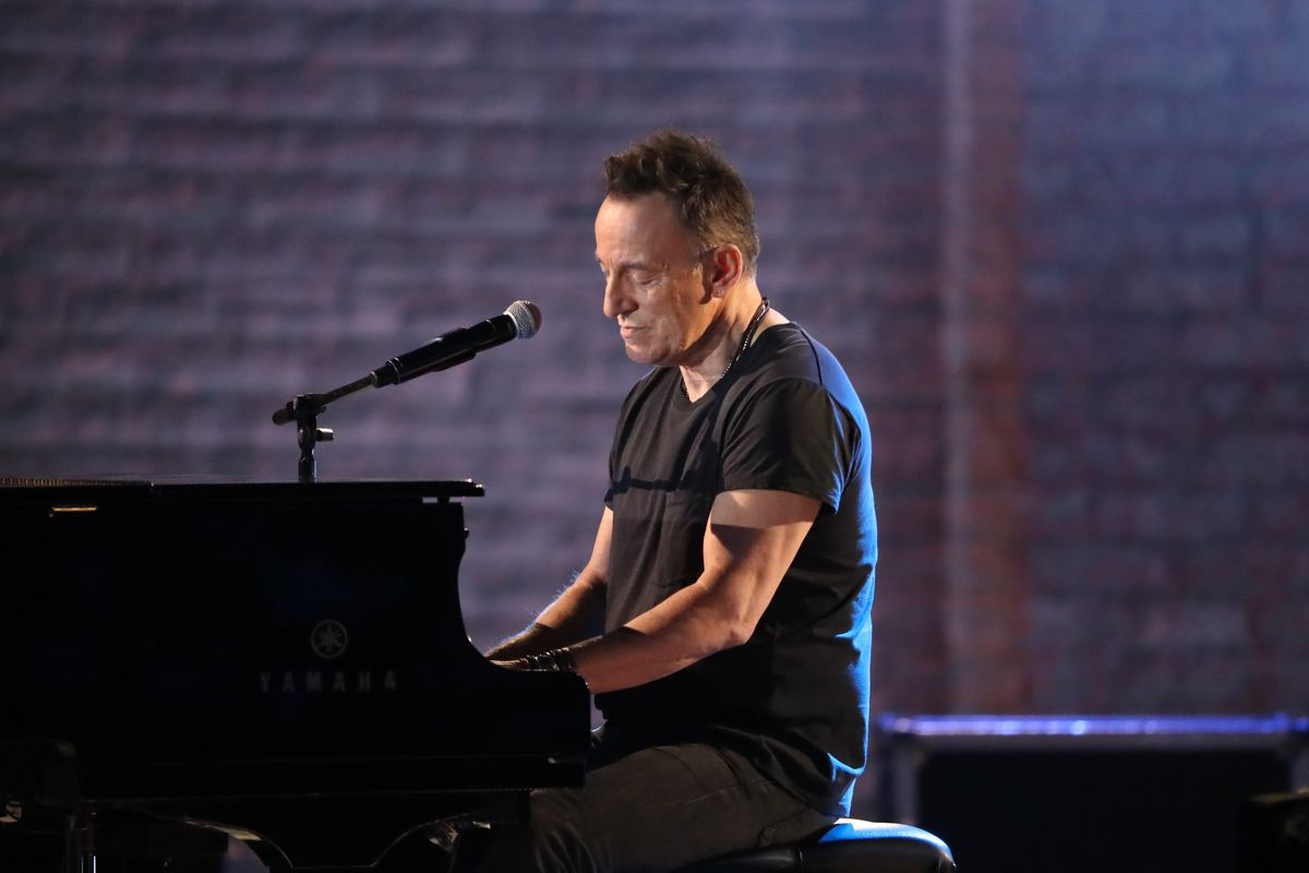 Bruce Springsteen performs at the 72nd Annual Tony Awards at Radio City Music Hall in New York, June 10, 2018. (Sara Krulwich/The New York Times)