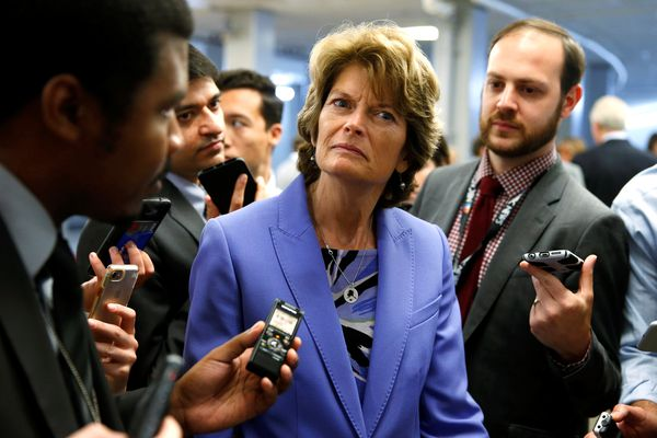 Senator Lisa Murkowski (R-AK) speaks to reporters after the Senate approved $15.25 billion in aid for areas affected by Hurricane Harvey along with measures that would fund the federal government and raise its borrowing limit on Capitol Hill in Washington, U.S., September 7, 2017. REUTERS/Joshua Roberts