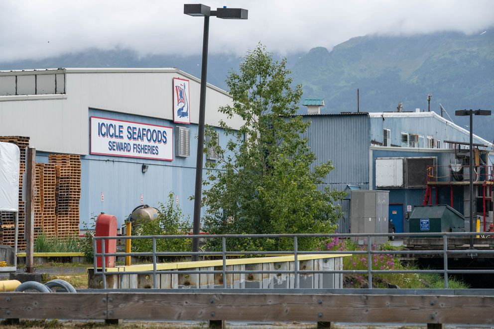 The OBI seafood processing plant in Seward, photographed on July 22. (Loren Holmes / ADN archive)
