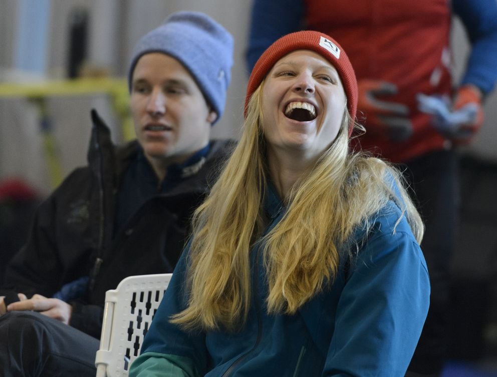 APU's Hailey Swirbul took first place in the open division of the 10-kilometer freestyle race Sunday and second place in the classic sprints Monday at the UAA Invitational cross-country ski race at Kincaid Park. (Marc Lester / ADN)