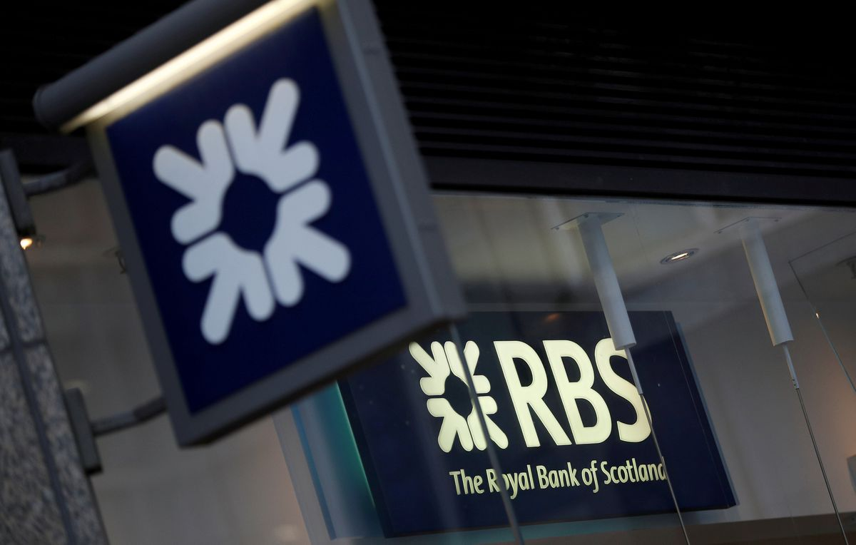 Royal Bank of Scotland signs at a branch in London. REUTERS/Peter Nicholls/File